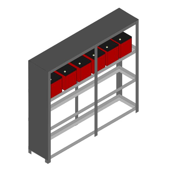 Gabinete ou estante de Baterias com tampas dsm nobreaks rio grande do sul