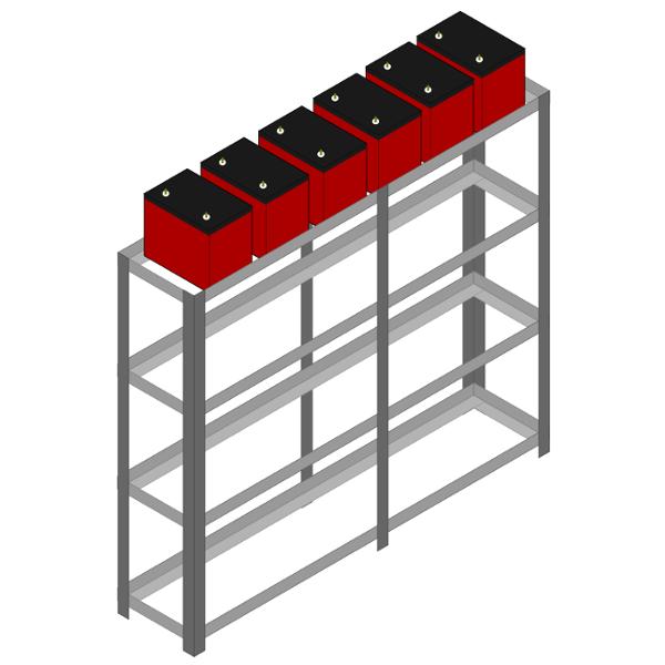 Gabinete ou estante de Baterias sem tampas dsm nobreaks rio grande do sul
